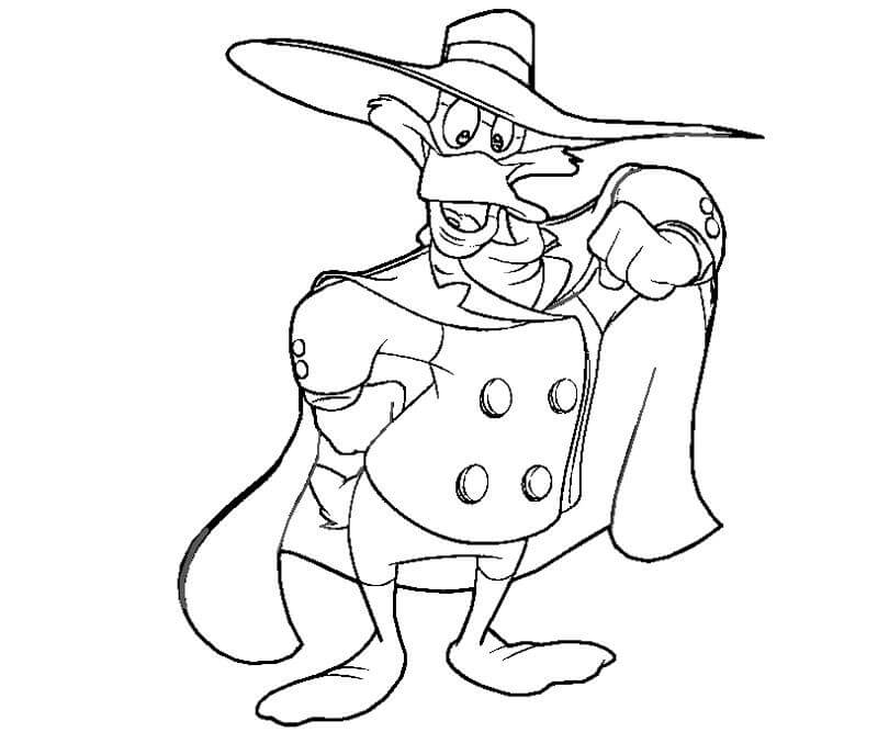 Darkwing Duck Coloring Page