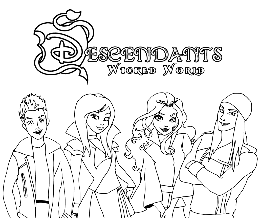 Descendants Wicked World Coloring Pages Coloring Page