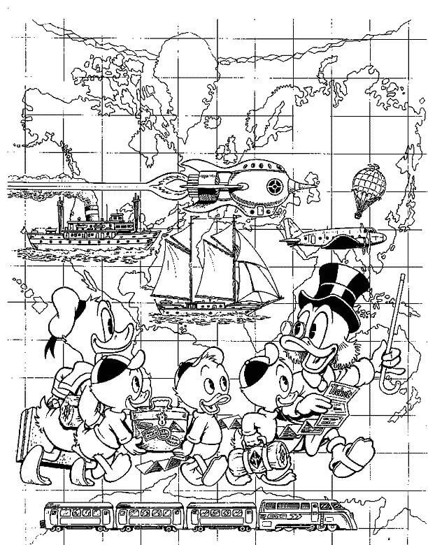 Duckburg Coloring Page
