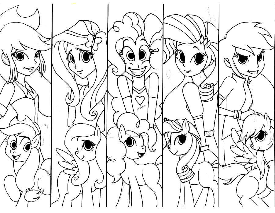 MLP Equestria Girls Coloring Page