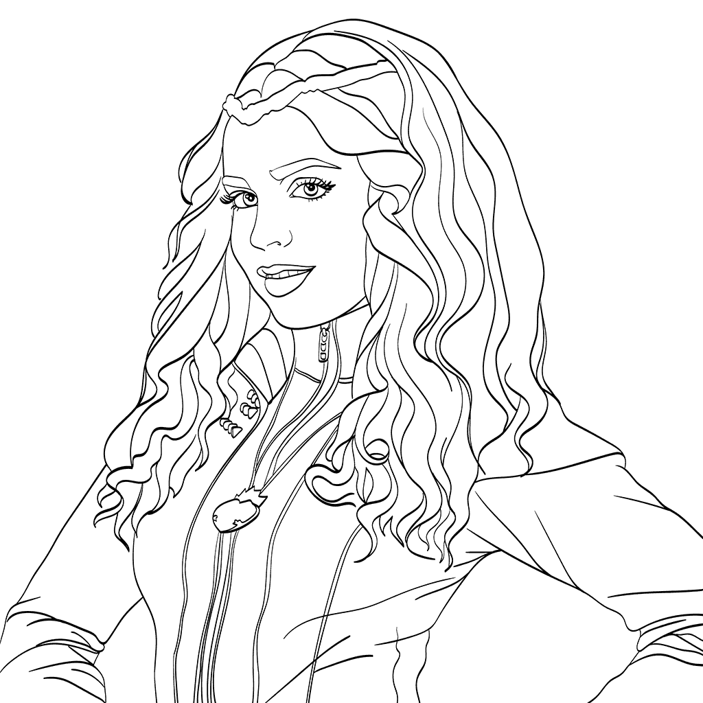 Free Printable Coloring Pages Disney Descendants : Top disney descendants coloring pages