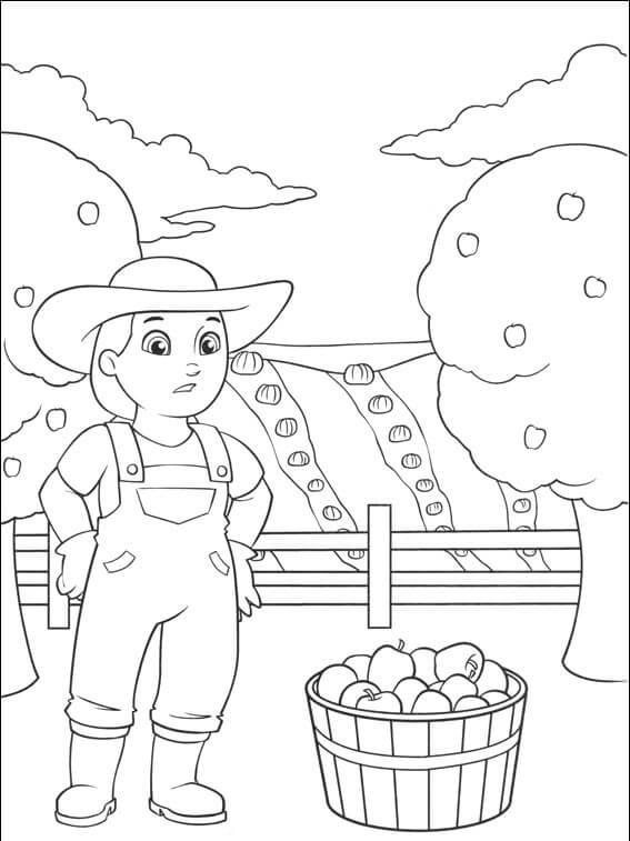 Farmer Yumi Paw Patrol Coloring Page