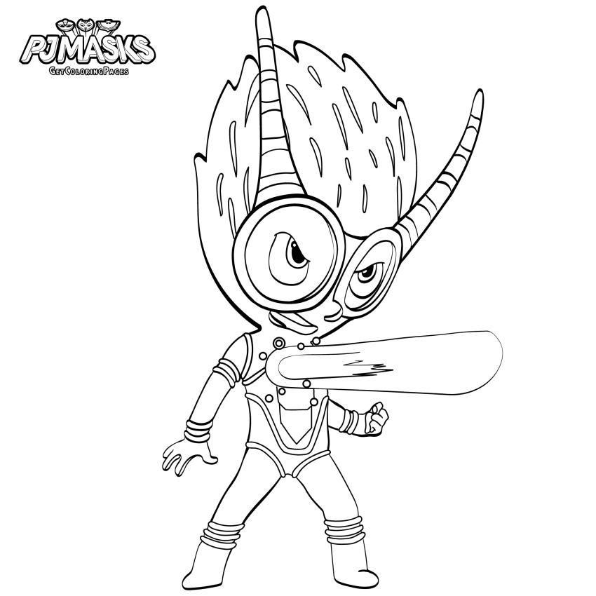 Firefly PJ Masks Coloring Page