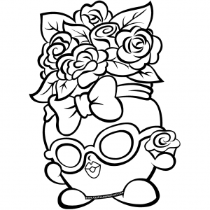 Flowers Bag Shopkins 7 Coloring Page