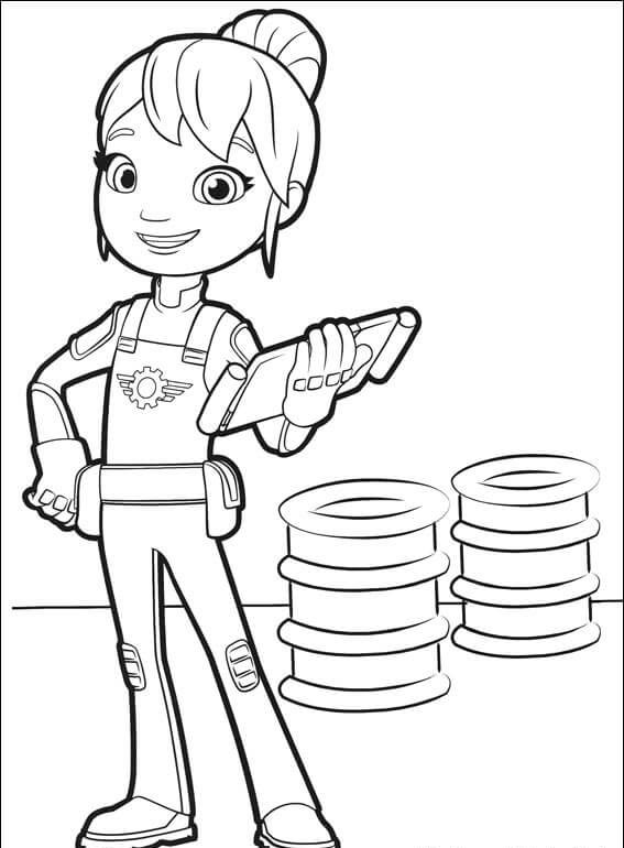 Gabby from Blaze and the monster machines coloring pages