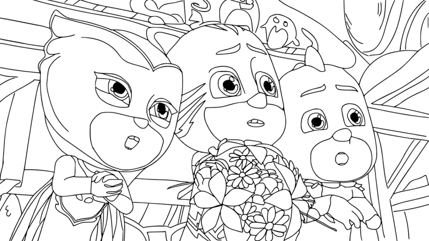 PJ Masks Coloring Page