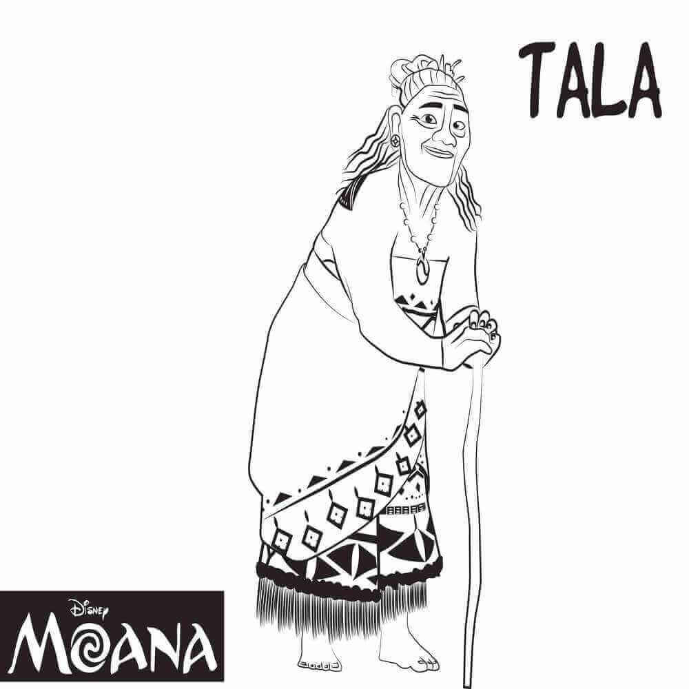 Grandma Tala Moana Coloring Pages