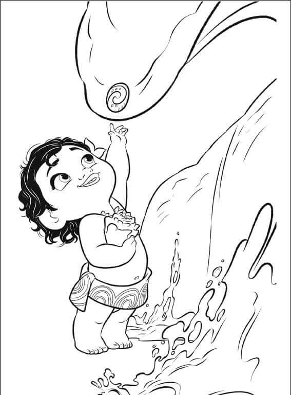 Moana With Heart Of Te Fiti Moana Coloring Pages
