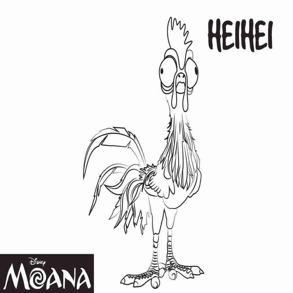 Heihei Moana Coloring Pages
