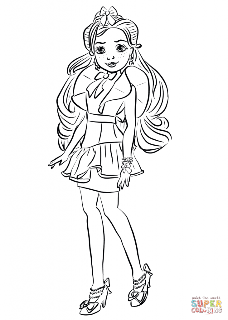Top 10 Disney Descendants 2 Coloring Pages
