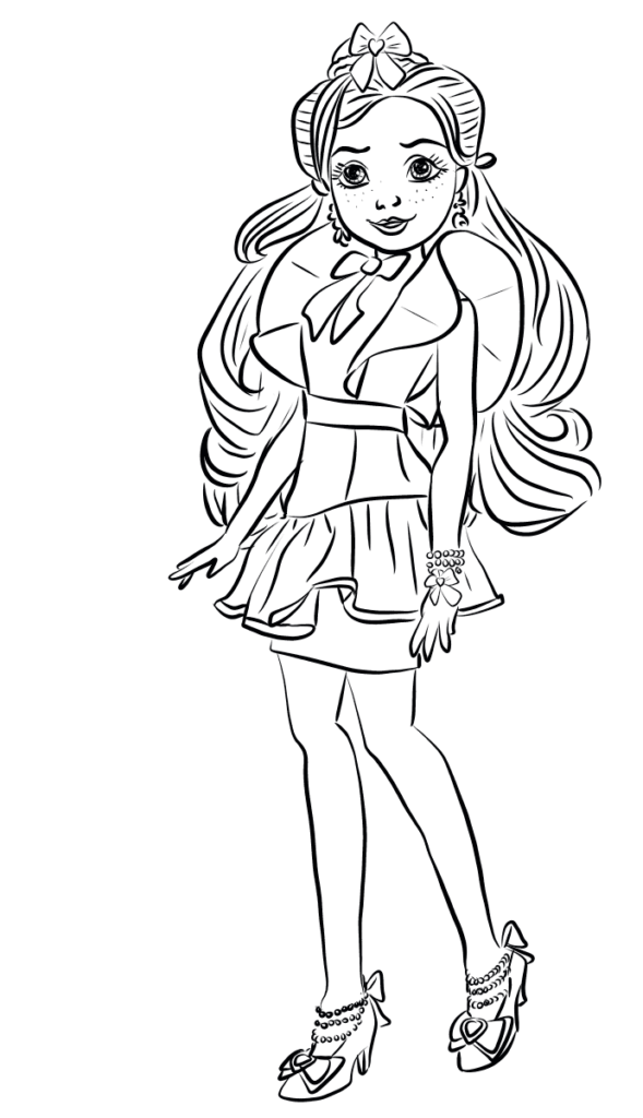 Jane Coloring Page