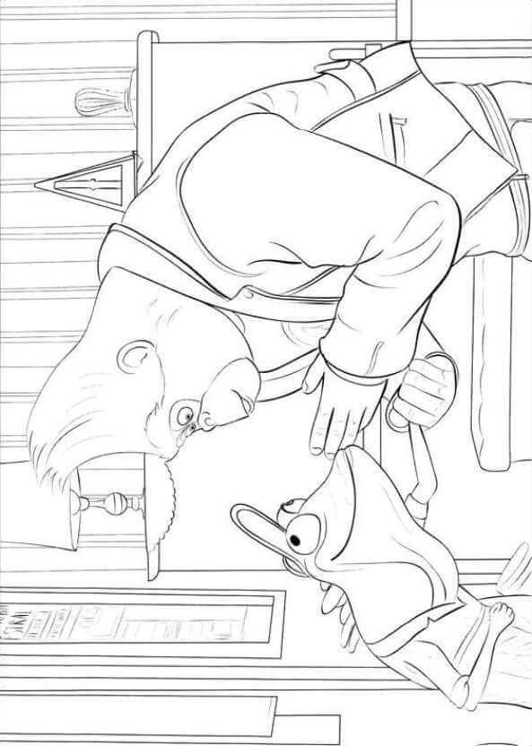 Johnny's Piano Lessons Sing Movie Coloring Page