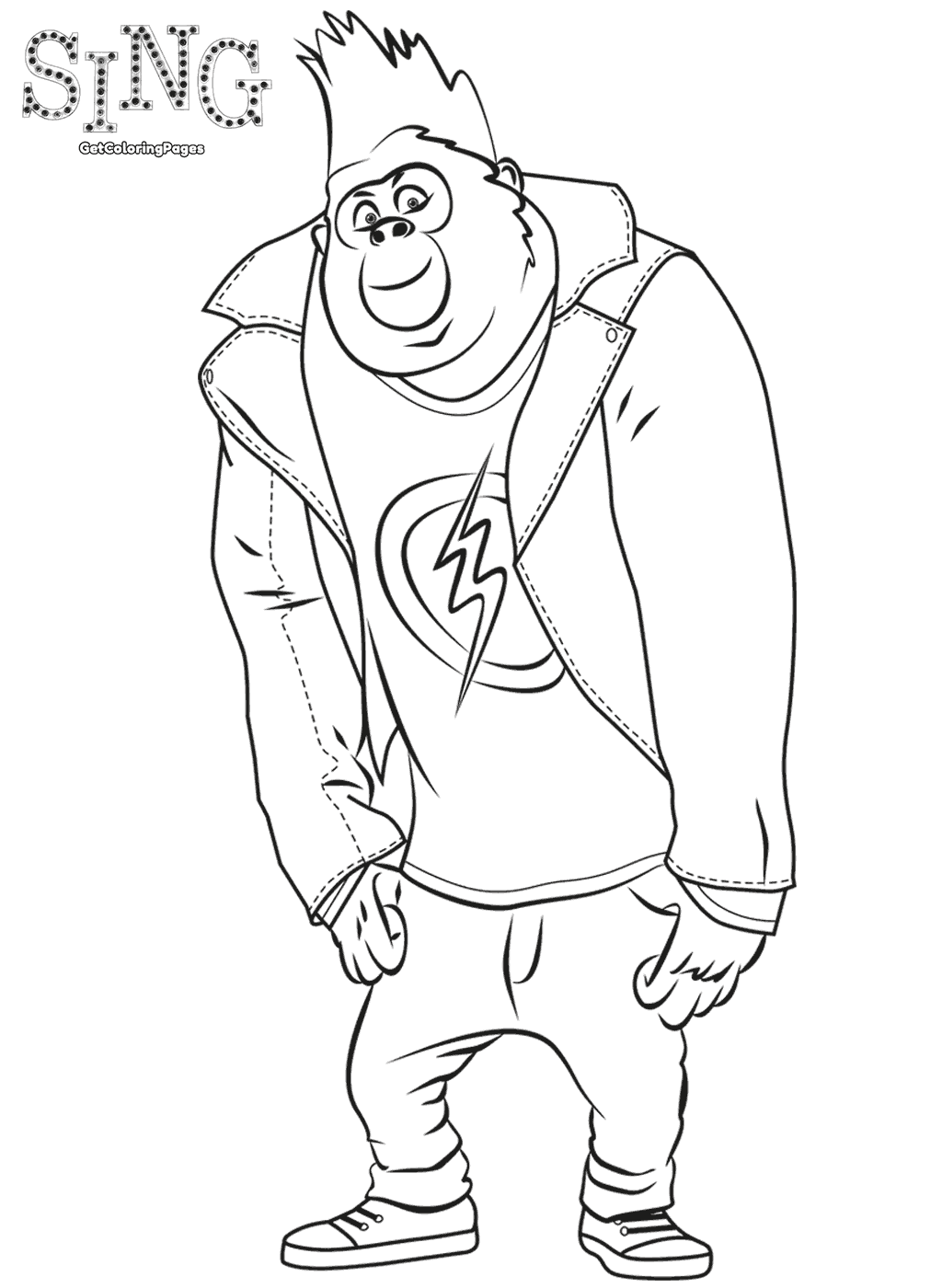 Johnny Sing Movie Coloring Page