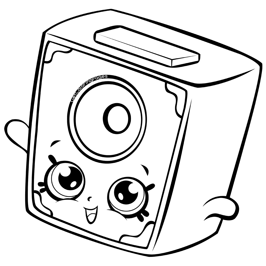 Little Squeeky Speaker Shopkins Season 7 Coloring Page