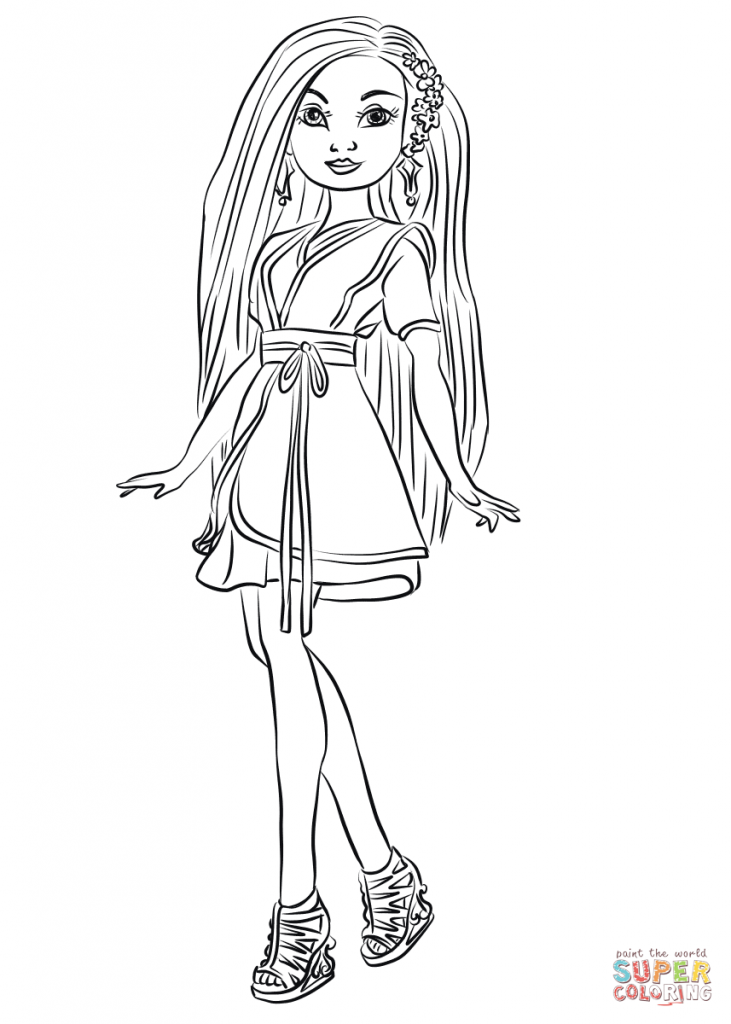 Dynamite image for descendants 2 coloring pages printable