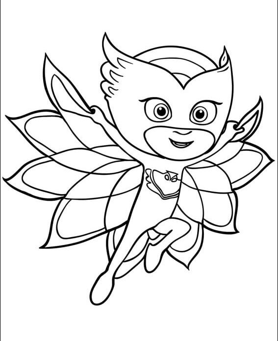 Majestic Owlette Coloring Page