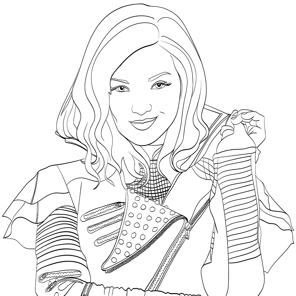 Versatile image in descendants 2 coloring pages printable