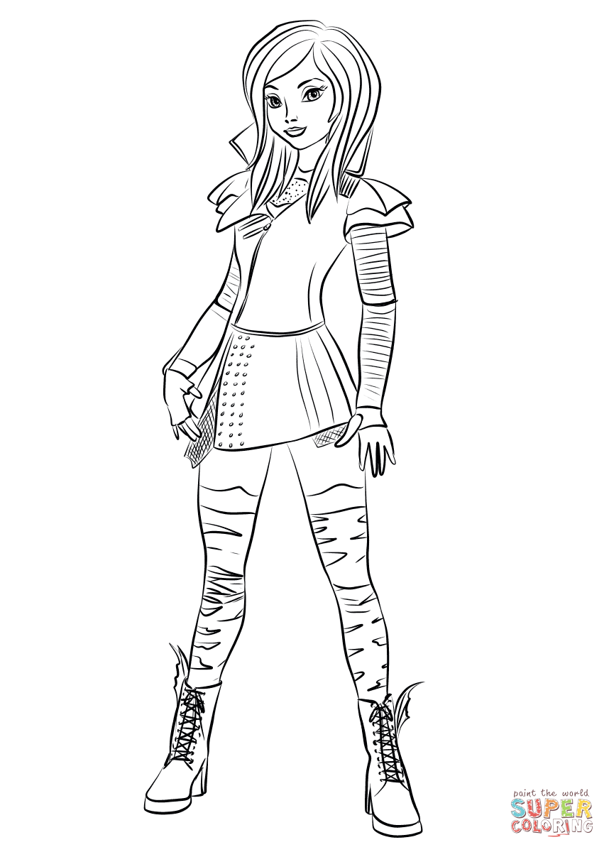 Mal Coloring Page