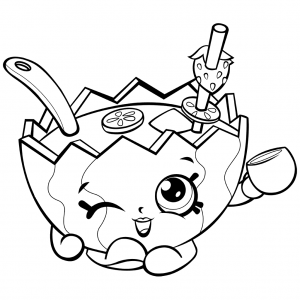 Mallory Watermelon Punch Shopkins Season 2017 Coloring Page