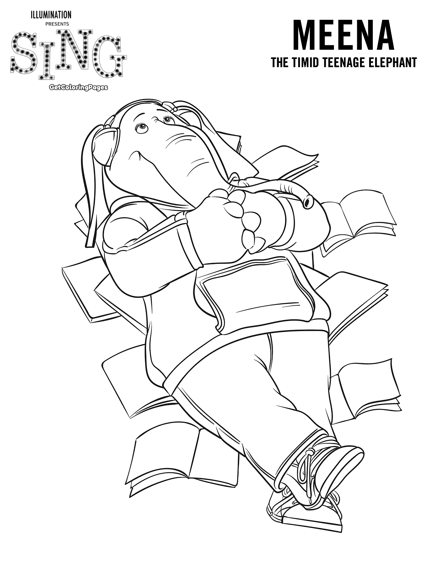 Meena Sing Movie Coloring Page