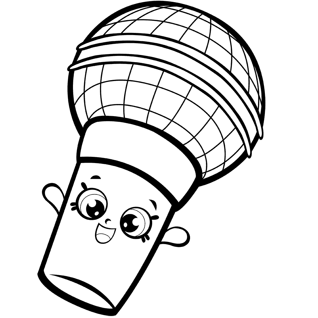 Mike Rophone Shopkins Season 7 Coloring Page