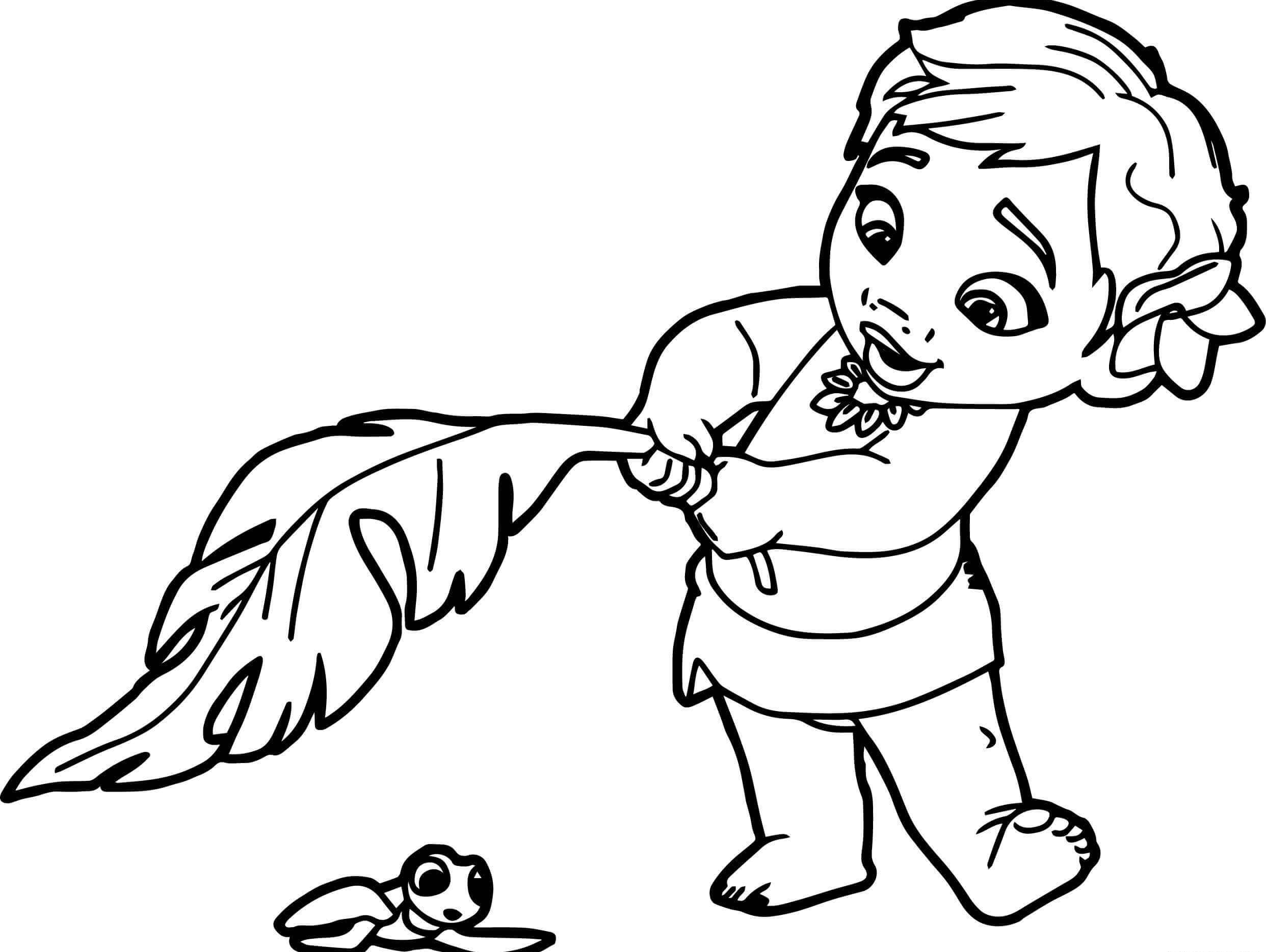 Moana Princess Coloring Page