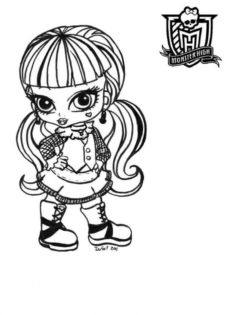 Monster High Baby Coloring Page