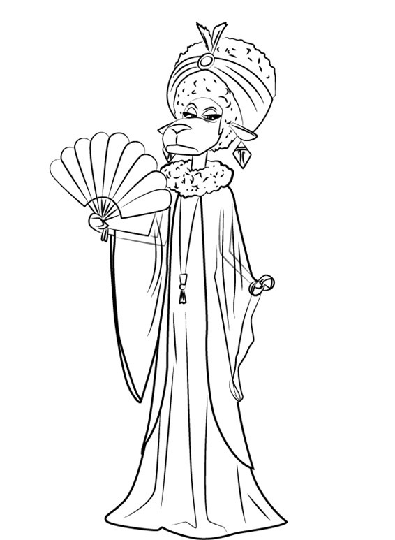 Nana Noodleman Sing Movie Coloring Page