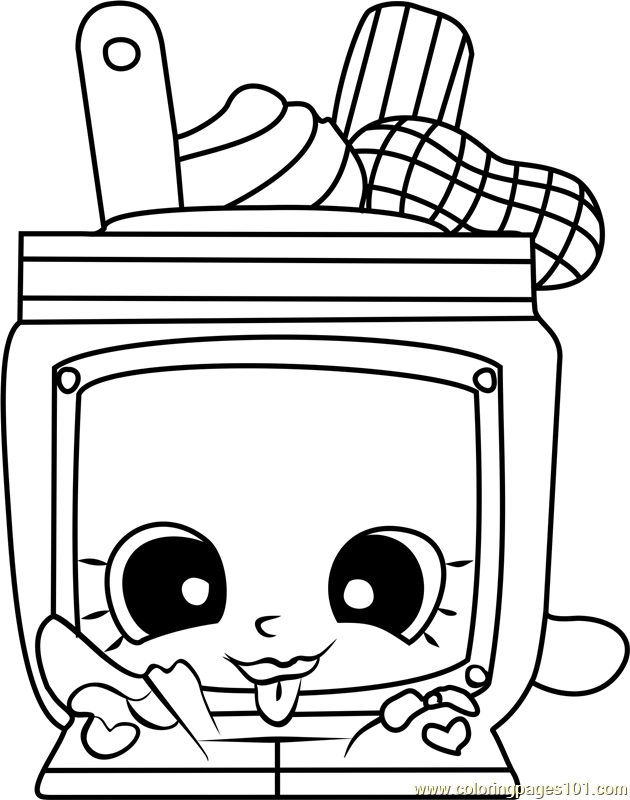 Nutty Butter Shopkins Coloring Page