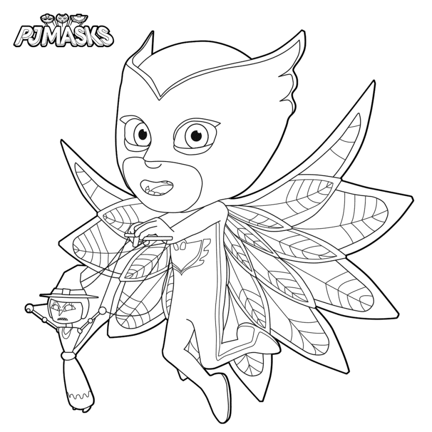 Owlette With Her Puppet Coloring Page