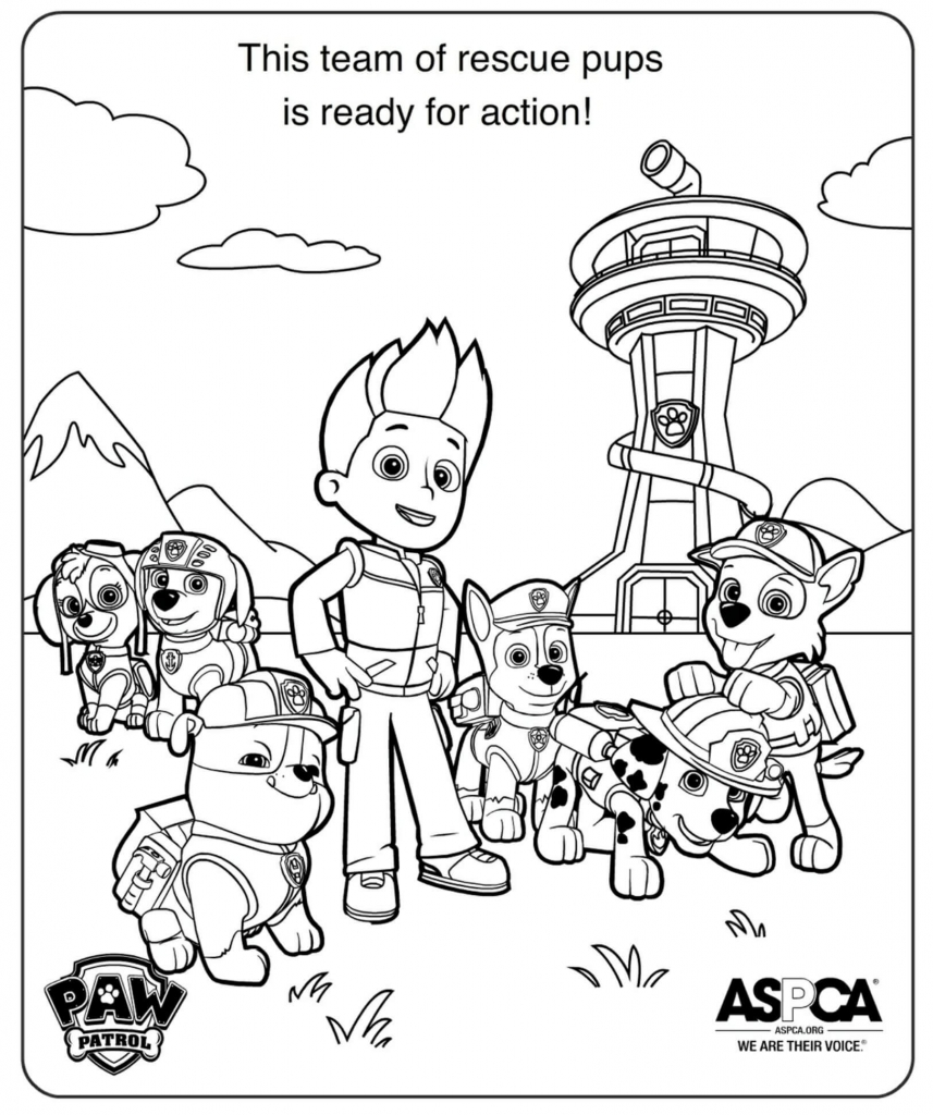 PAW Patrol Rescue Team coloring pages