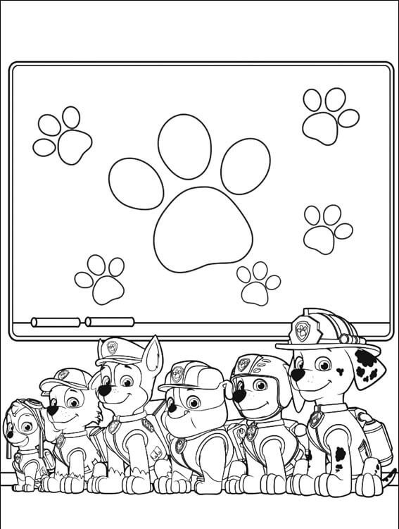 PAW Patrol Team Coloring Page