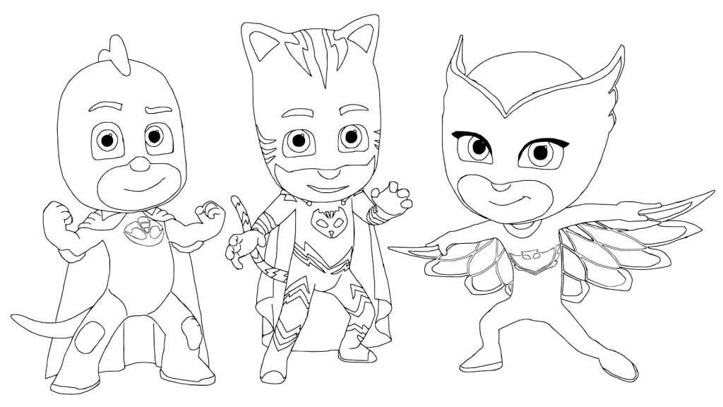 PJ Masks Gang Coloring Page