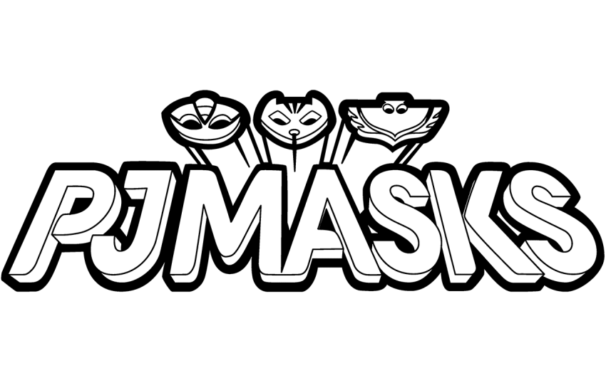 pj masks logo coloring page - Pj Masks Coloring Pages