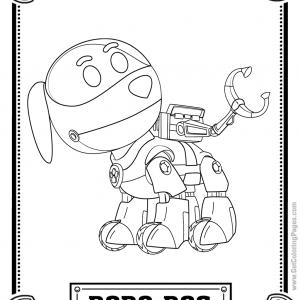 Robo Dog Coloring Page