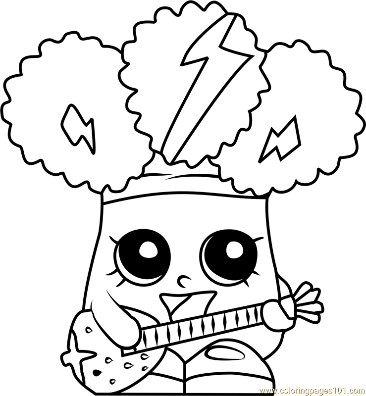 Rockin Broc Shopkins Season 1 Coloring Page