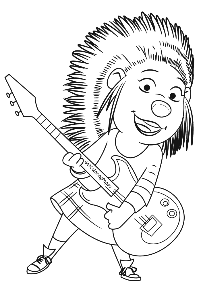 rockstar coloring pages - photo#23