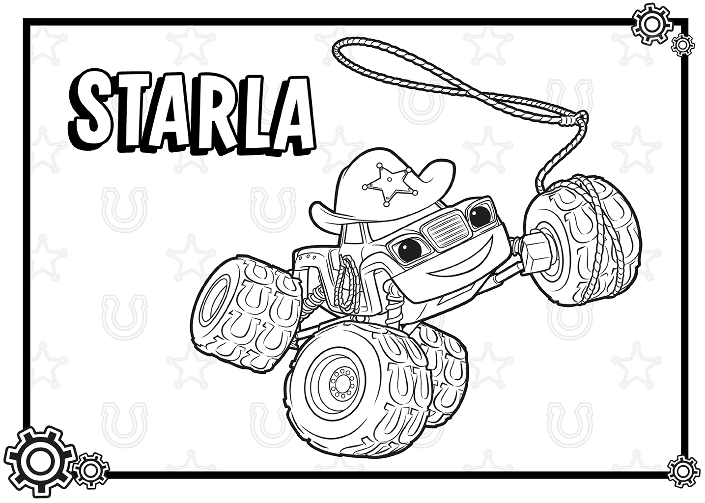 Top Blaze Monster Machines Coloring Pages