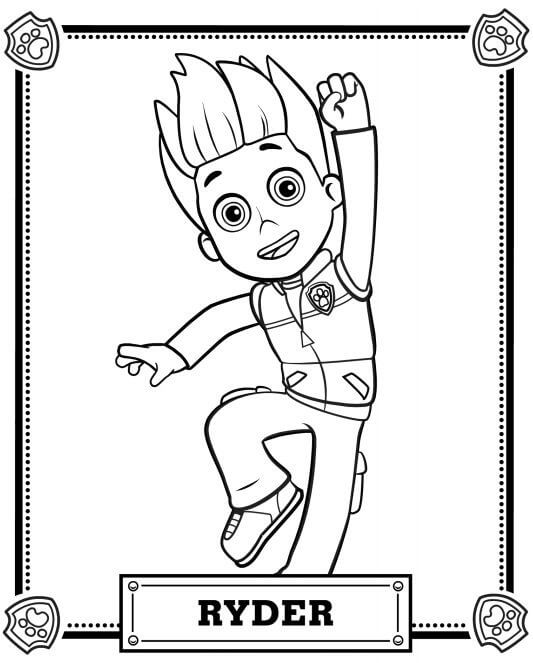 Ryder PAW Patrol Coloring Page