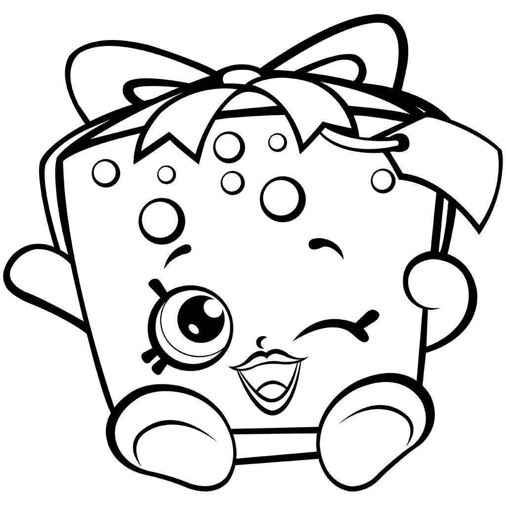 Shopkins 7 Party Gift Coloring Page