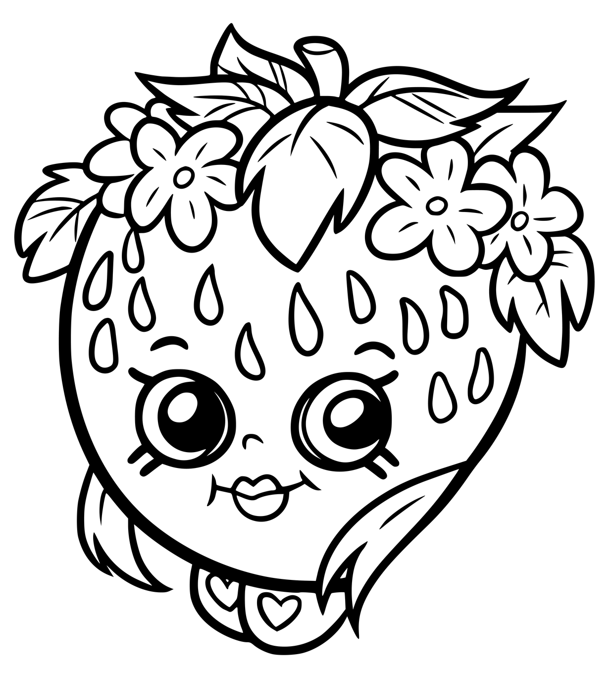 Shopkins Season 7 Strawberry Coloring Page