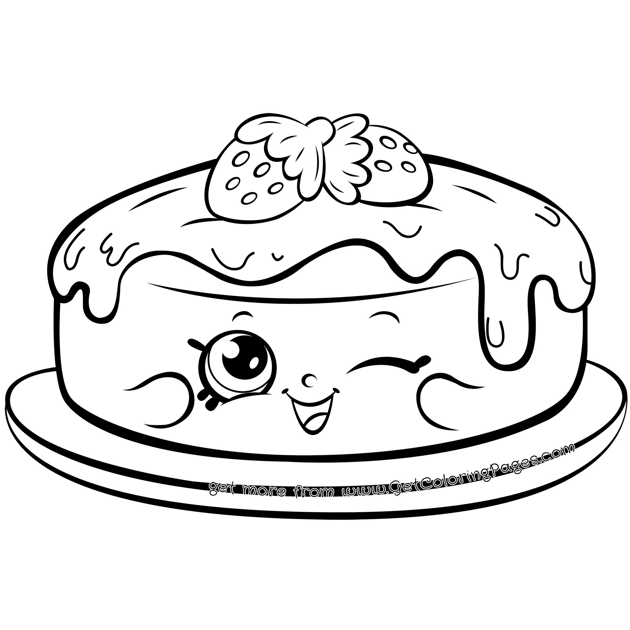 pancakes coloring pages - photo#16