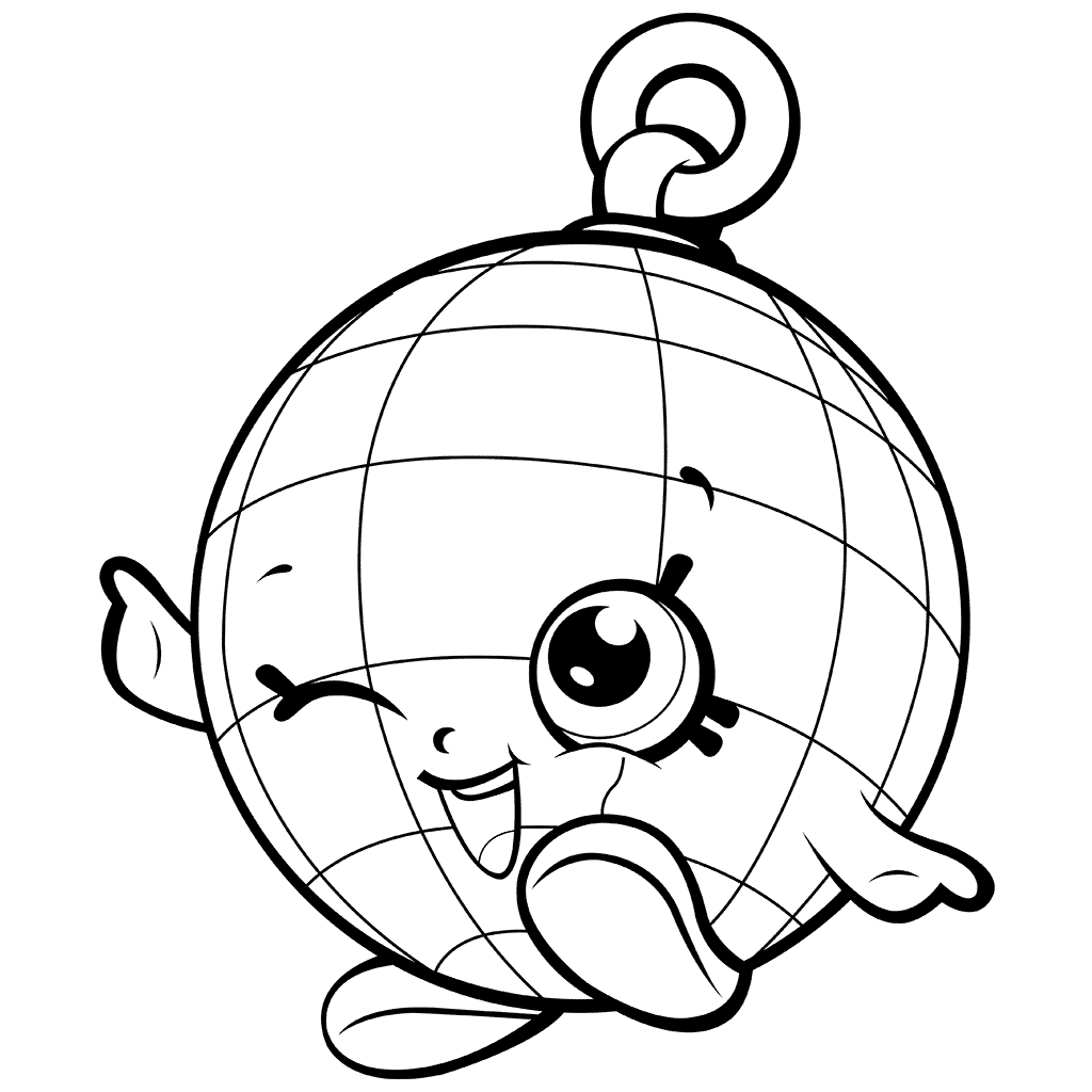 Shopkins Disco-ball Coloring Page