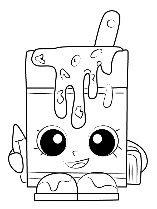 Shopkins Season 1 Alpha Soup Coloring Page