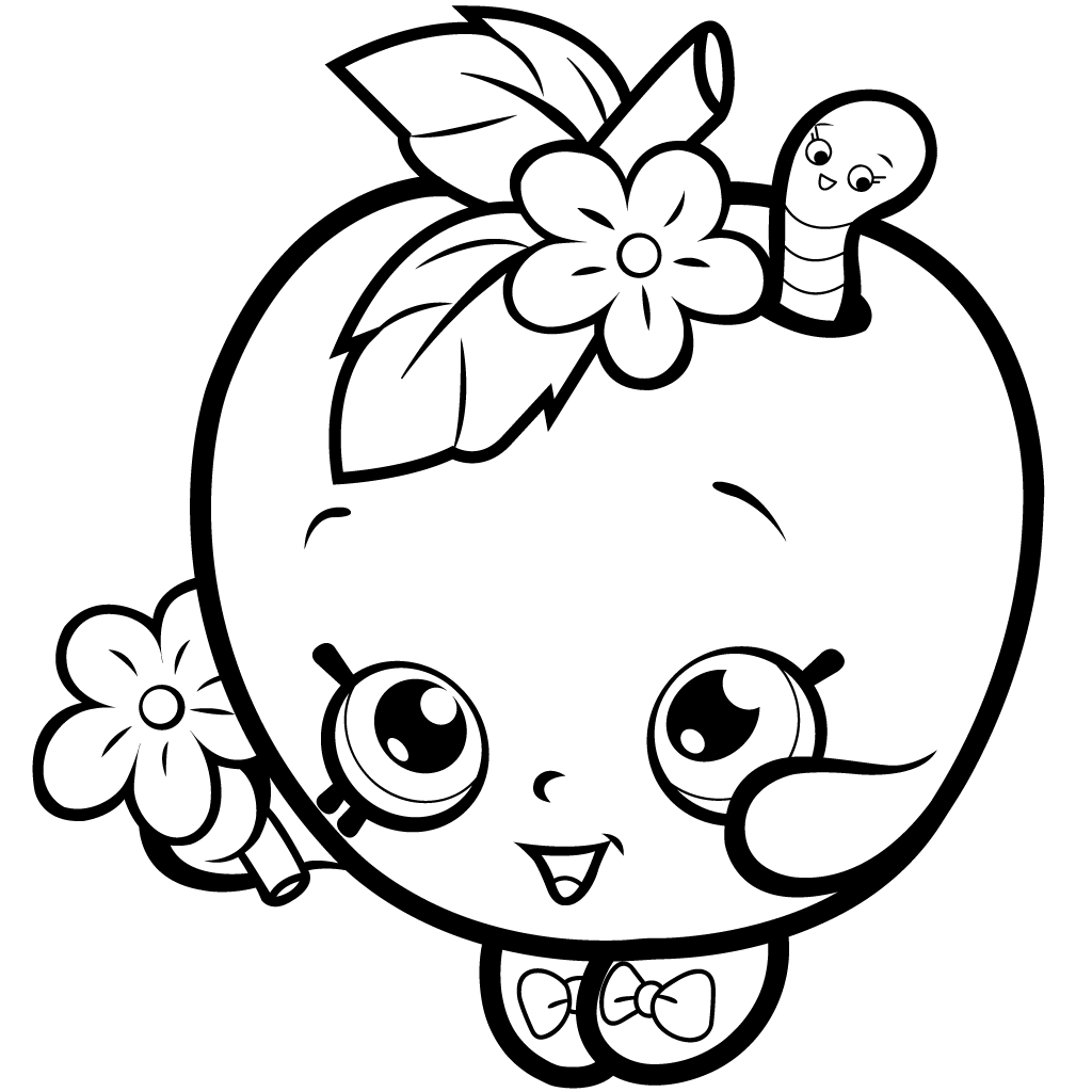High Quality Shopkins Season 1 Apple Blossom Coloring Page