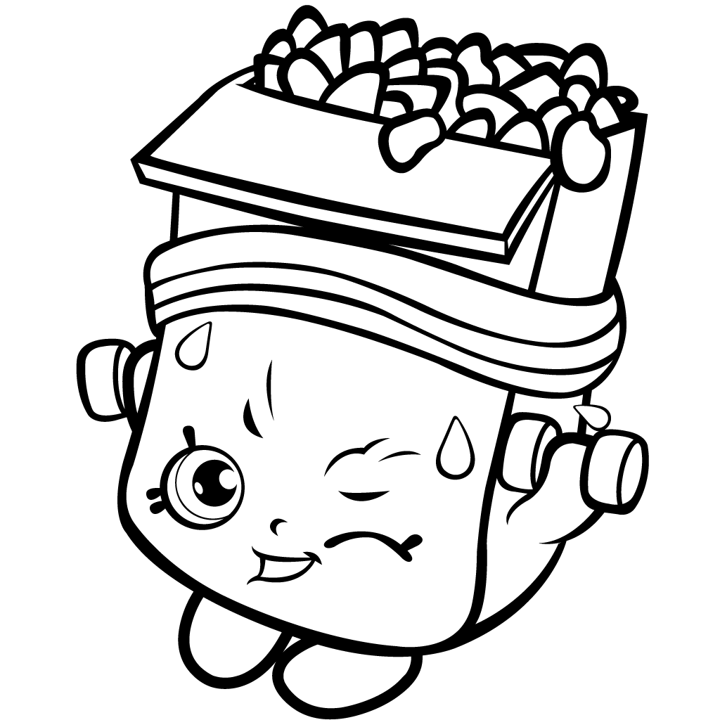 Shopkins Season 1 Breaky Crunch Coloring Page