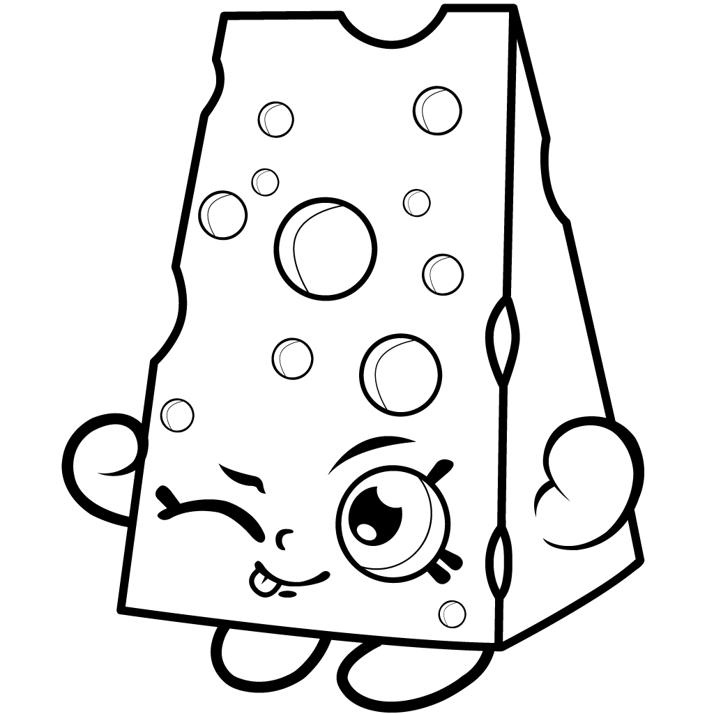 Shopkins Season 1 Chee Zee Coloring Page