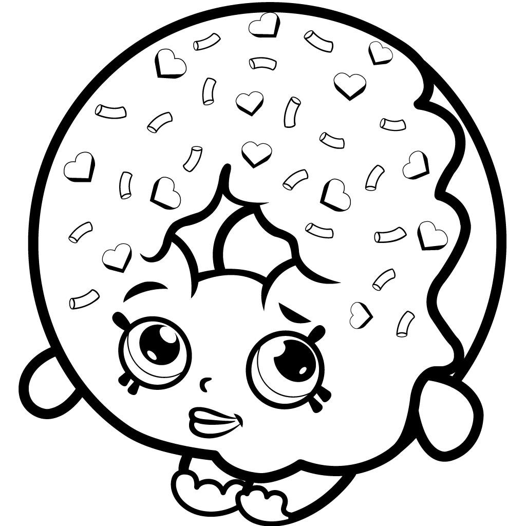 Shopkins Season 1 D'lish Donut Coloring Page