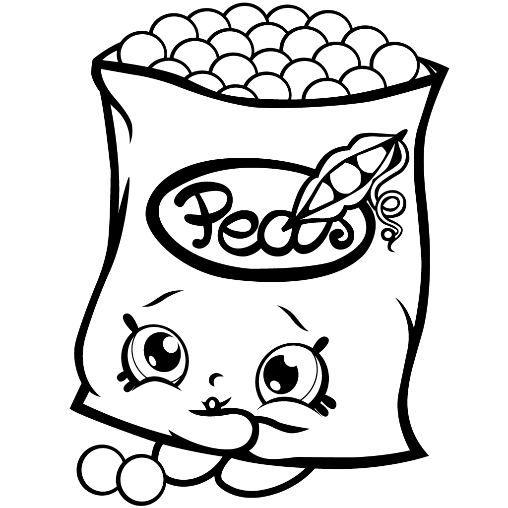 Shopkins Season 1 Freezy Peazy Coloring Page