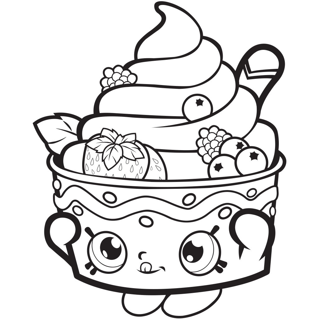 Shopkins Season 1 Frozen Yo-Chi Coloring Page